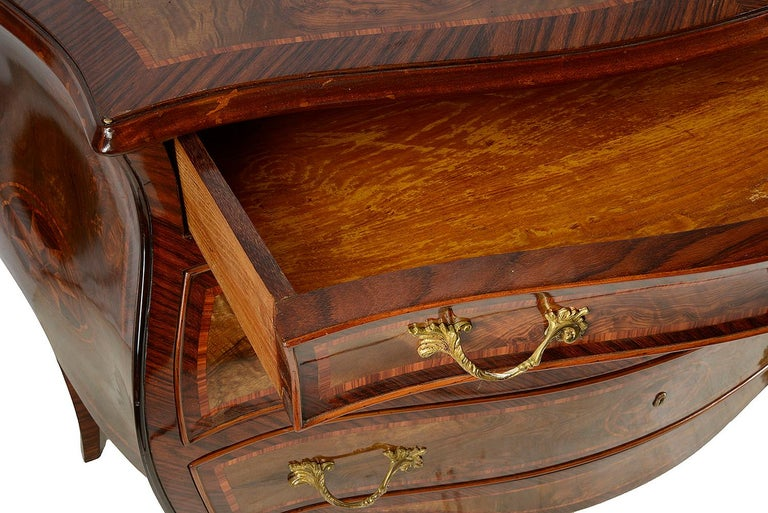 20th Century Pair of Italian 18th Century Style Inlaid Commodes, circa 1920 For Sale