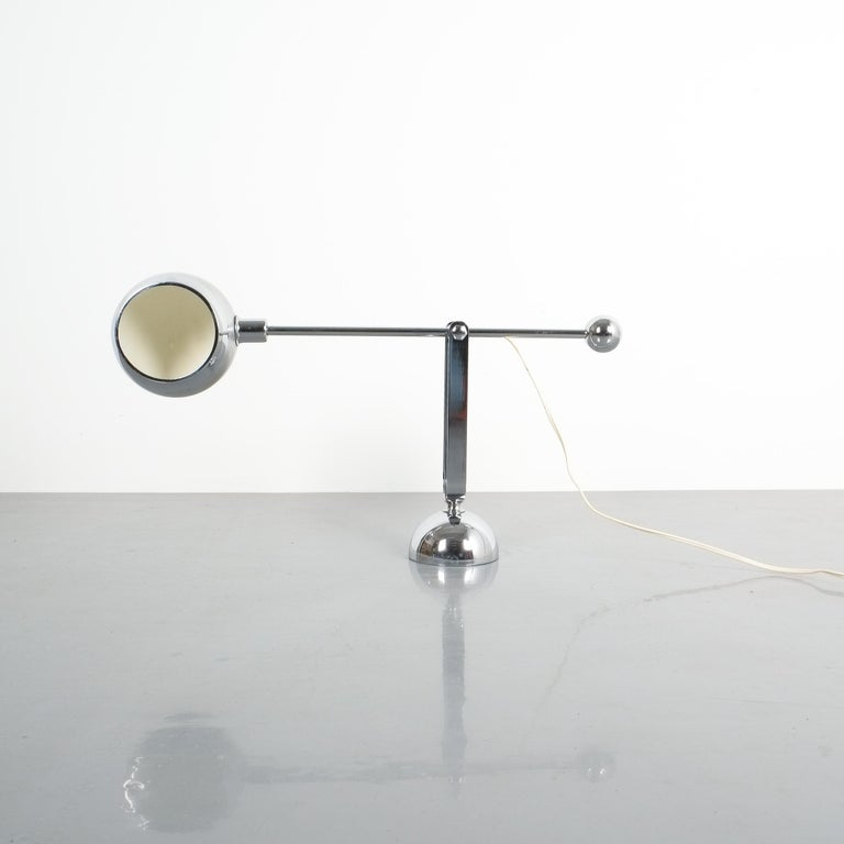 Pair of Italian Chrome Counterweight Table Lamp by Sergio Asti In Good Condition In Vienna, AT