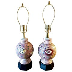 "Pair of Italian Midcentury ""Fish"" Lamps, Attributed to Fantoni"