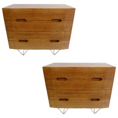 Italian Mid-Century Modern Commodes / Chest of Drawers Circle of Gio Ponti, Pair
