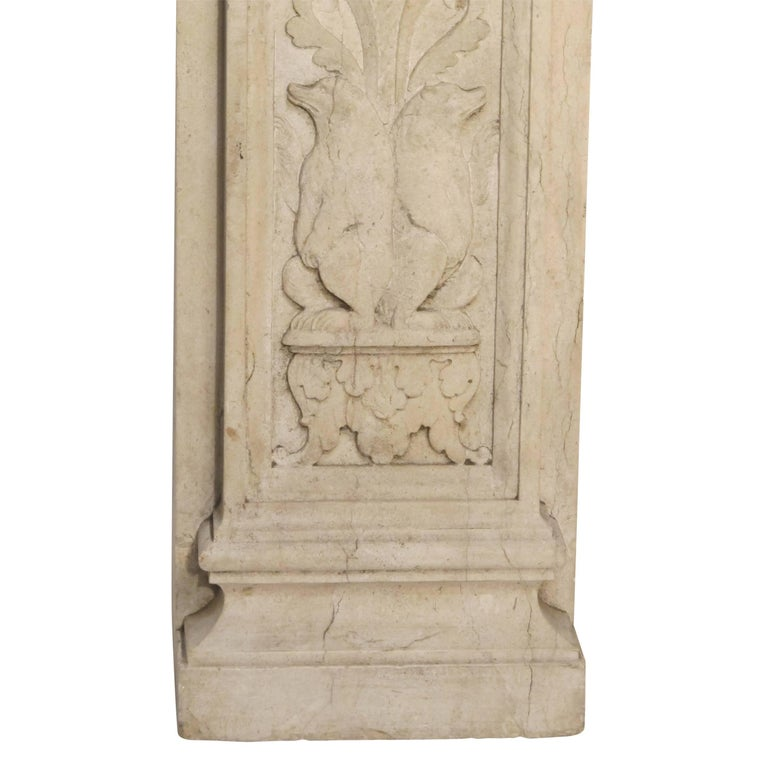 Italian Neoclassical Style Carved Marble Pilasters Architectural Elements, Pair For Sale 7