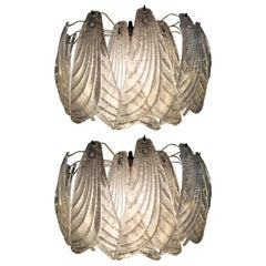 Pair of Italian Sconces Barovier & Toso Style, Murano, 1970