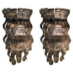 "Pair of Italian Sconces ""Lingue"" Barovier & Toso, Murano, 1970"
