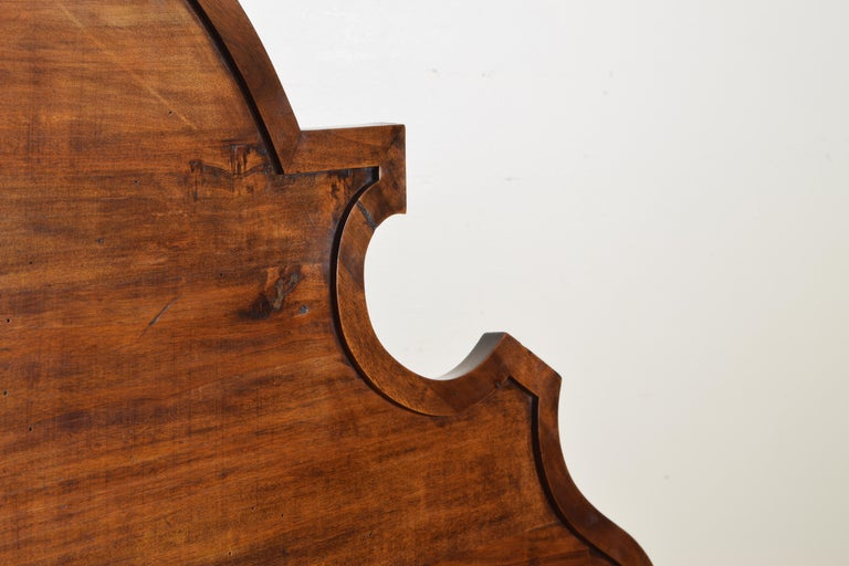 Pair of Italian Walnut Louis XIII Style Hall Benches, 19th Century For Sale 2