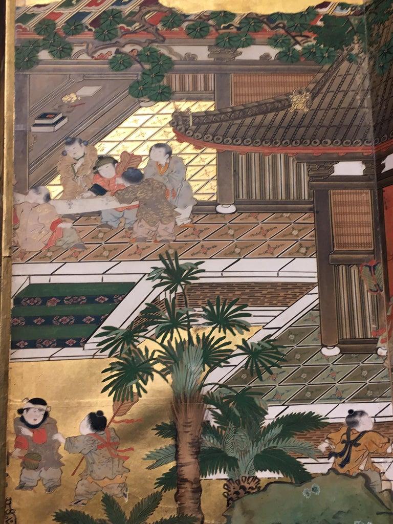 Pair of Japanese Edo Period Six-Panel Screen,