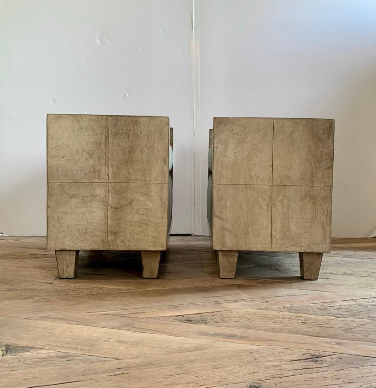 20th Century Pair of Jean-Michael Frank Style Goatskin Benches in Mohair