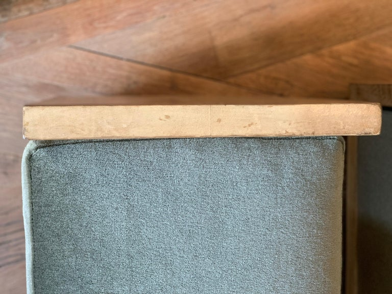 Pair of Jean-Michael Frank Style Goatskin Benches in Mohair 1
