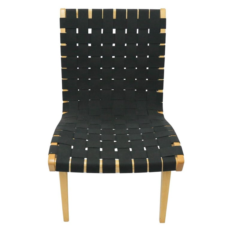 American Pair of Jens Risom Lounge Chairs for Knoll with Black Webbing For Sale