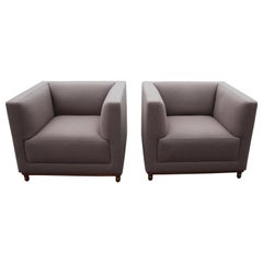 Pair of Jephson Robb for Bernhardt Mills Lounge Chairs