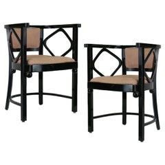 Pair of Josef Hoffmann Fledermaus Style Chairs, 1960s