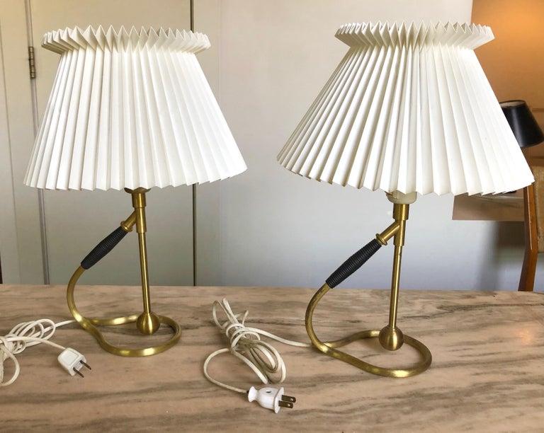 Pair Kaare Klint 306 Lamps for Le Klint For Sale 2