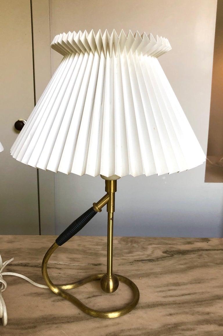 Pair Kaare Klint 306 Lamps for Le Klint For Sale 3
