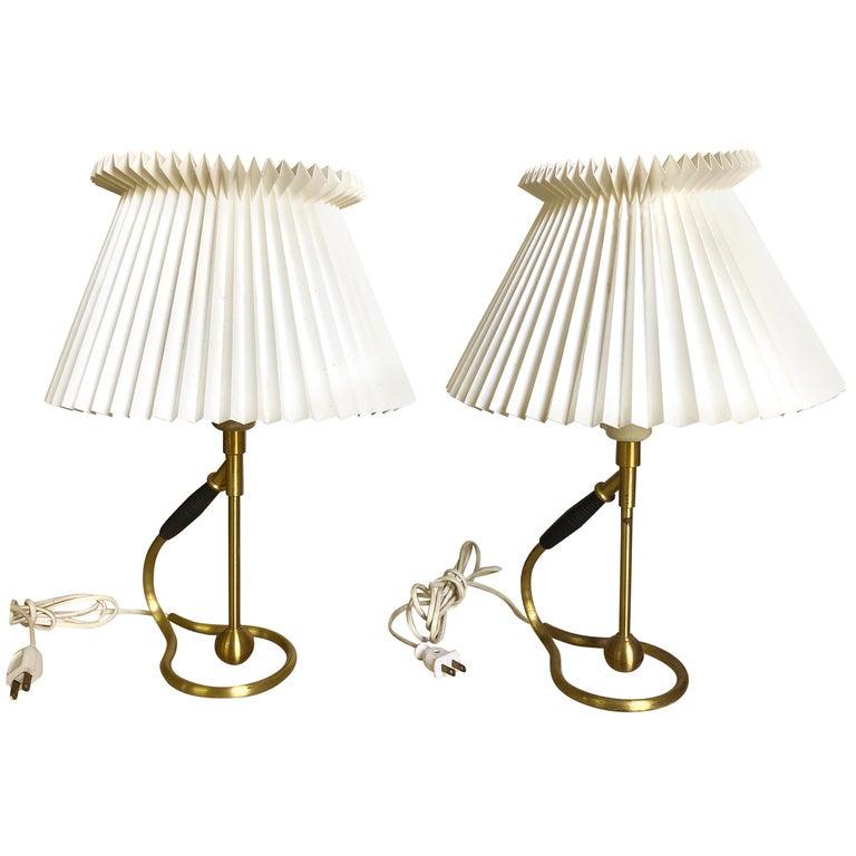 Pair Kaare Klint 306 Lamps for Le Klint For Sale