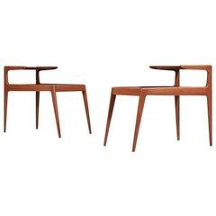 Pair Kurt Østervig Danish Modern Teak Tables