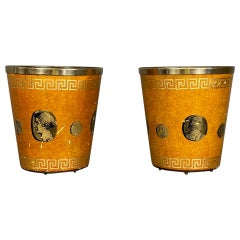 Pair of Lacquer Vase Holder by Piero Fornasetti Milano Signed