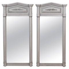 Pair of Large Hollywood Regency Mirrors