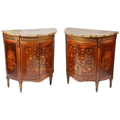 Pair of Late 18th Century French Inlaid Side Cabinets