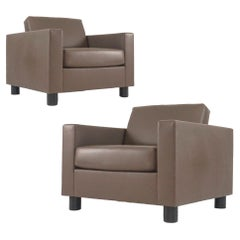 Pair Leather Shelton Mindel for Knoll SM2 Leather Club Chairs- priced per chair