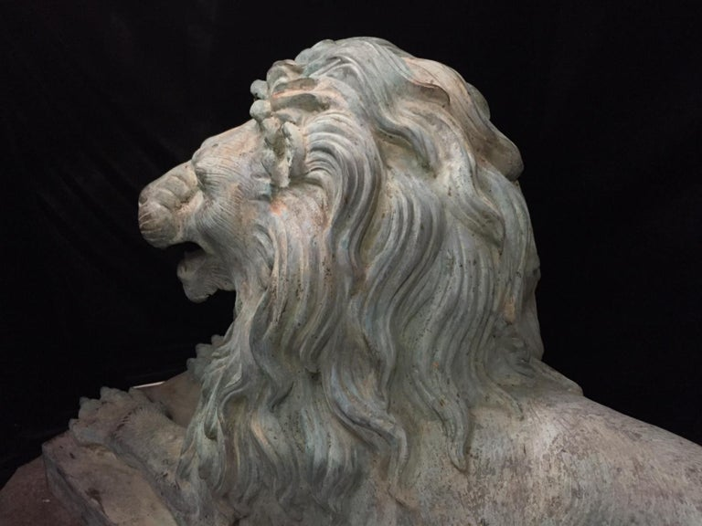Pair Lifesize Bronze Lions Signed Alex Browns For Sale 6