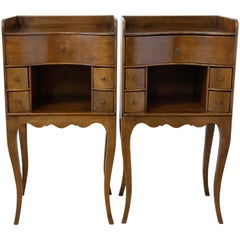 Pair of Louis XV Nightstands Early 20th Century Side Cabinets Bedside Tables