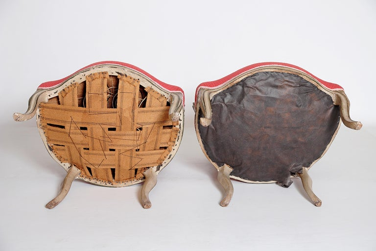 Pair of Louis XV Painted Fauteuils For Sale 6