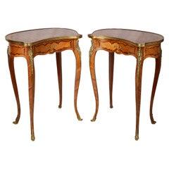 Pair of Louis XVI Inlaid Side Tables, circa 1900