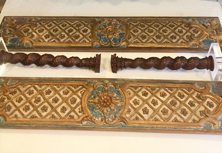 Pair Louis XVI Style Overdoor or Supraporta Bosierie Fragments For Sale 7