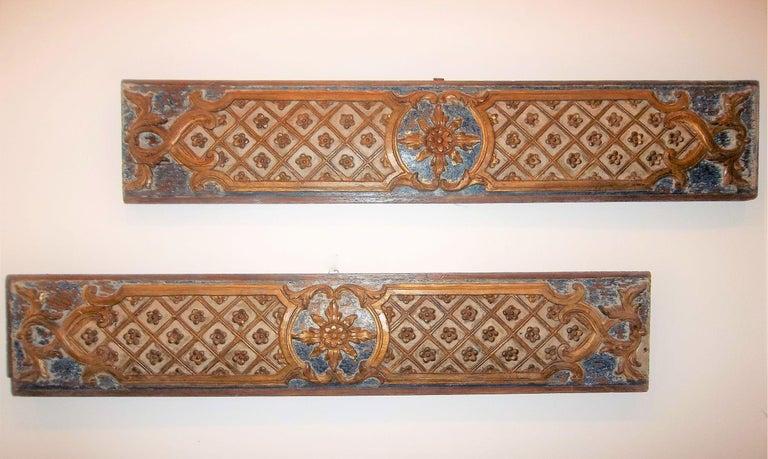19th Century Pair Louis XVI Style Overdoor or Supraporta Bosierie Fragments For Sale