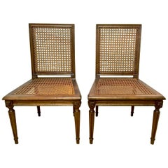 Pair of Louis XVI Style Slipper Chairs or Chauffeuses