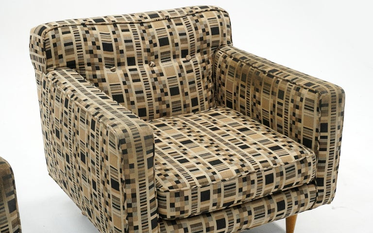 Bleached Pair of Lounge Chairs by Edward Wormley for Dunbar, Priced for Reupholstery For Sale