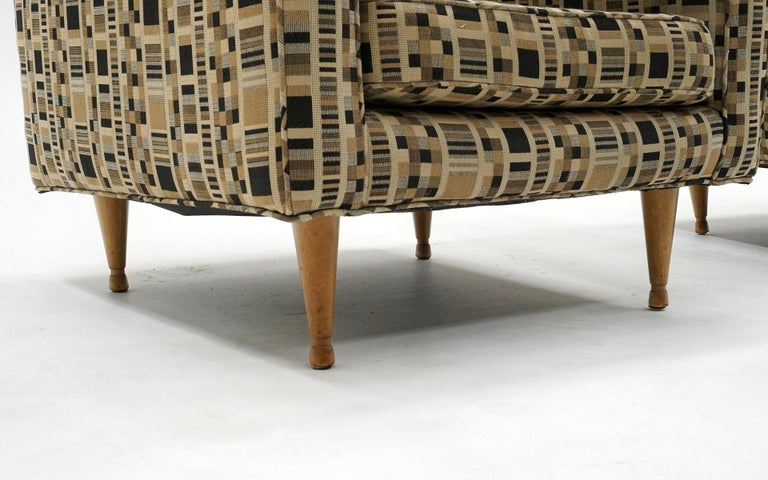 Mid-20th Century Pair of Lounge Chairs by Edward Wormley for Dunbar, Priced for Reupholstery For Sale