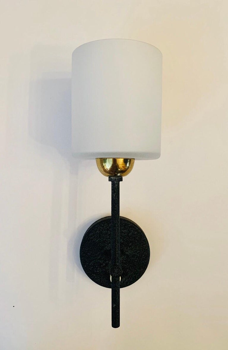 Mid-Century Modern Pair of Lunel French 1960s Wall Lights For Sale
