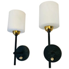 Pair of Lunel French 1960s Wall Lights