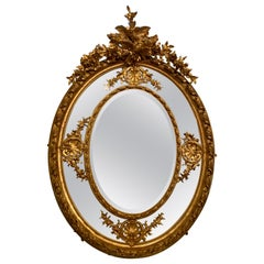 Pair of Magnificent French Louis 16th Beveled Mirrors Palatial Scale, circa 1880