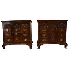 Pair of American Masterpiece Collection Chippendale Chest Hickory Chair Co