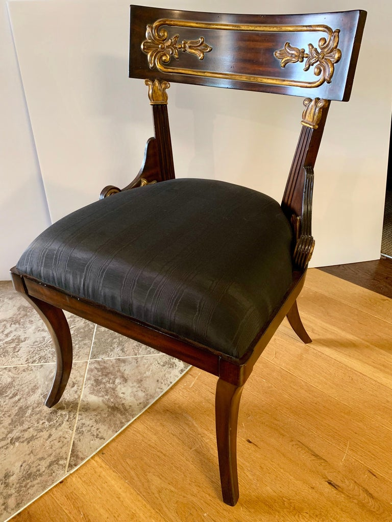 Pair Of Maitland Smith Neoclassical Chairs For Sale At 1stdibs
