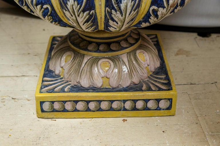 Pair of Majolica Planters For Sale 1