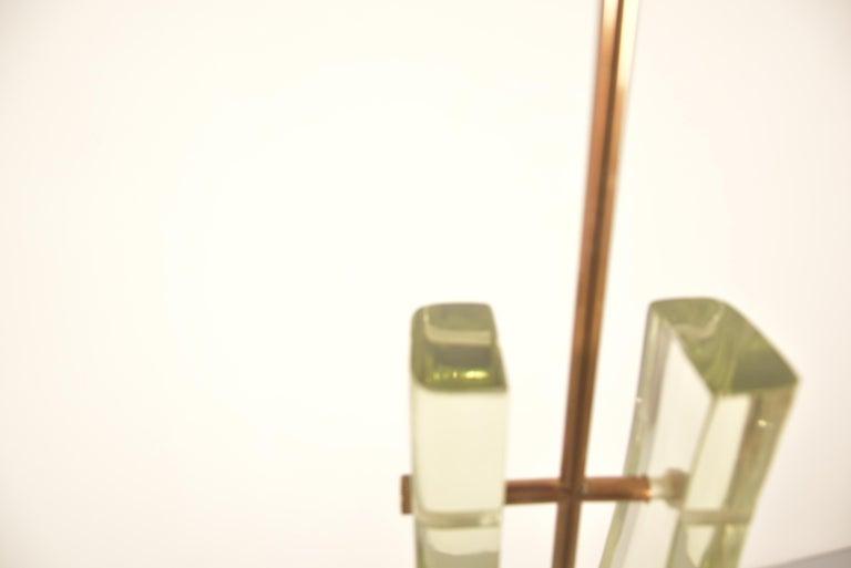 Pair of Max Ingrand Pendant Model 2259 for Fontana Arte For Sale 8