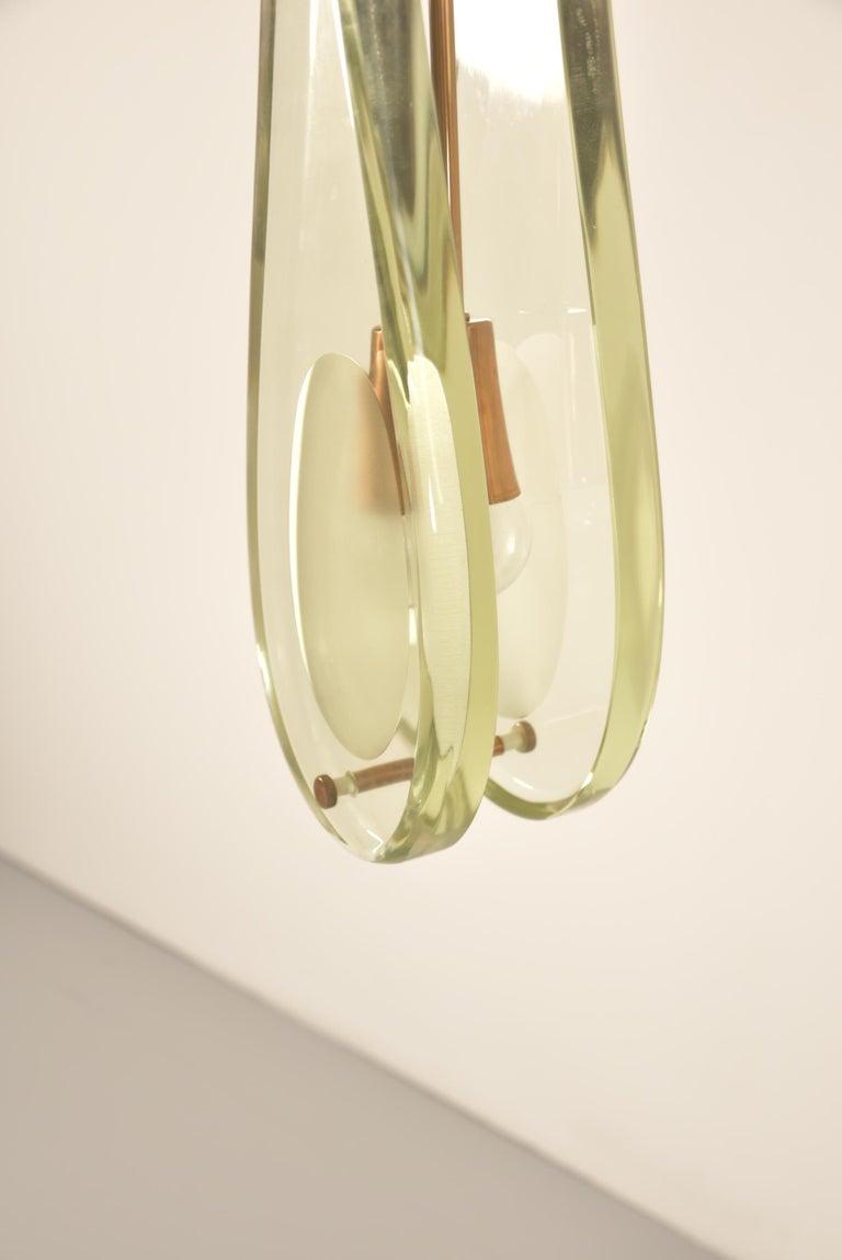 Italian Pair of Max Ingrand Pendant Model 2259 for Fontana Arte For Sale