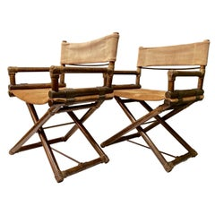 Pair of McGuire Directors Chairs