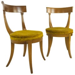 Pair of MCM Klismos Side Chairs