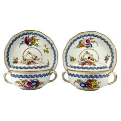 Pair of Meissen Porcelain Ecuelle, Covers and Stands, circa 1790
