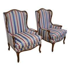 Pair of Meyer, Gunther & Martini Wingback Chairs