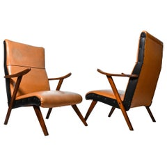 Pair of Midcentury Armchairs, Poland, 1960s