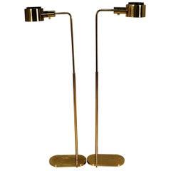 Pair of Midcentury Casella Pharmacy Brass Floor Lamps
