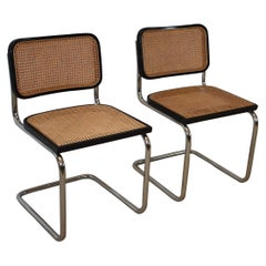 Pair of Midcentury Cesca Italian Chairs by M. Breuer