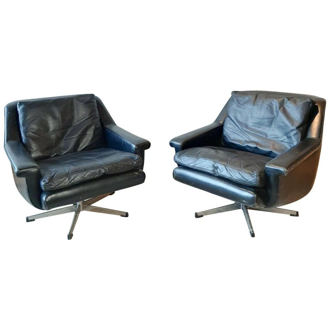 Pair of Midcentury Danish Armchairs by Werner Langefeld for ESA Møbelværk, 1960s