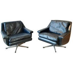 Pair of Midcentury Danish Armchairs by Werner Langefeld for ESA Møbelværk, 1960s