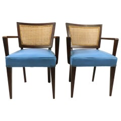 Pair of Mid Century  Dining Armchairs Attributed to Probber