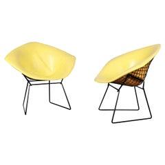 Pair Mid Century Harry Bertoia Knoll Diamond Chairs